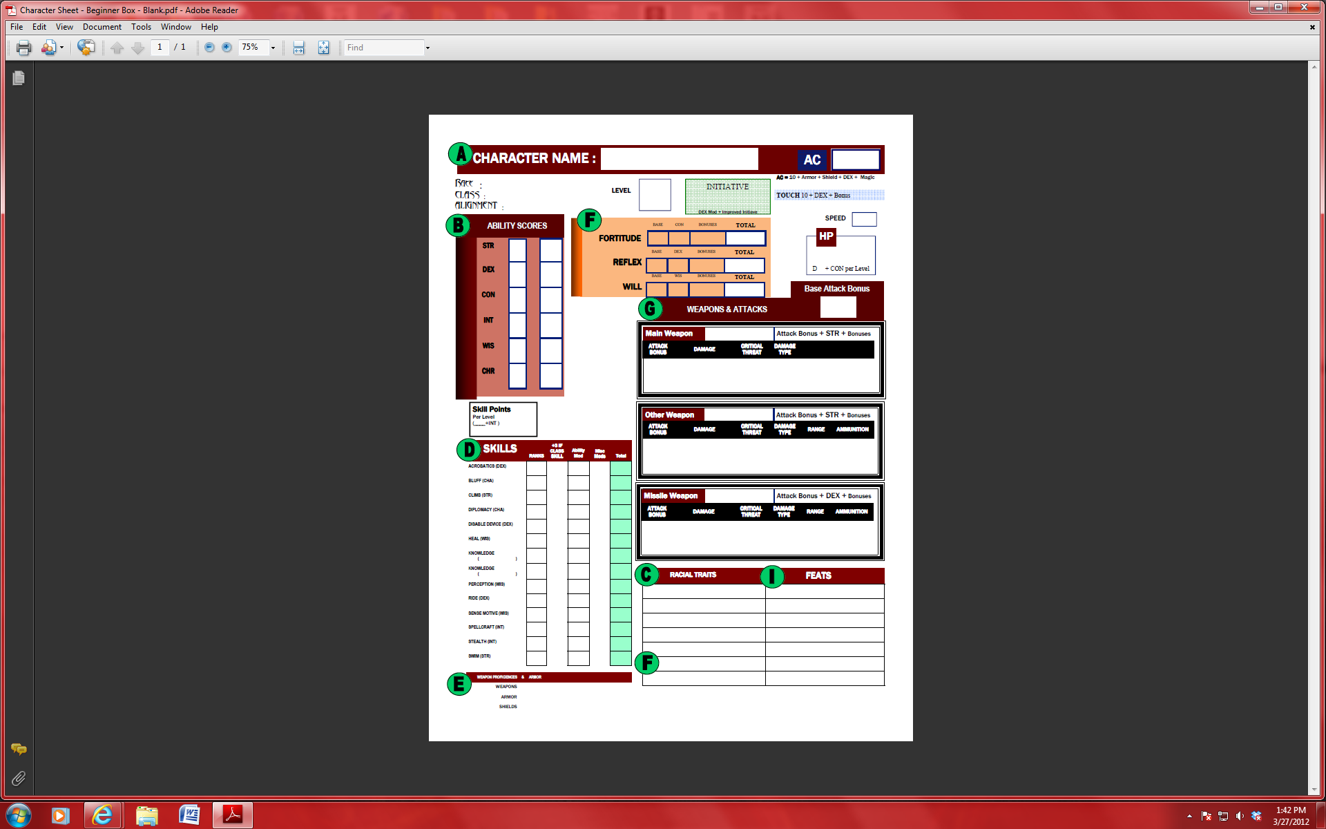 how to get a pathfinder character sheet roll20
