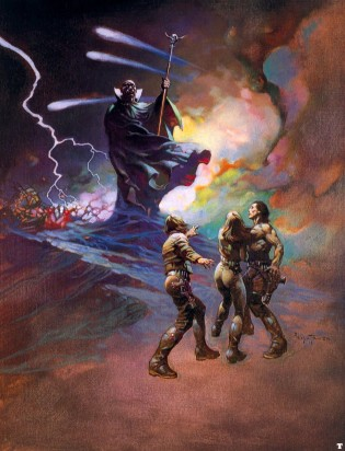 Frank Frazetta's take on a space-age sorcerer?