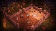 A well-established base camp.