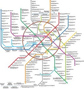 A map of the Moscow Metro