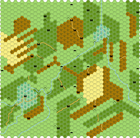 The Outdoor Survival Map; the castle icons represent kargs