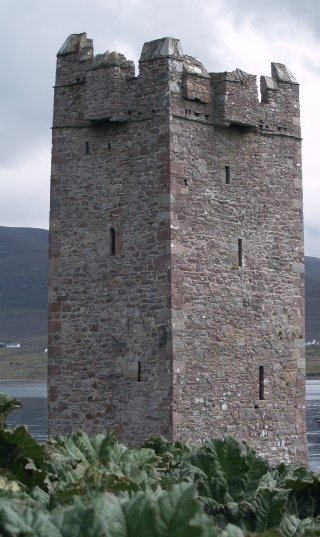 A crazy old wizard probably lives in this tower-karg.
